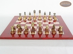 picture of Champion Brass Staunton Chessmen with Italian Lacquered Chess Board [Red] (4 of 7)