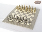 picture of French Heritage Chessmen with Spanish Lacquered Chess Board [Grey] (2 of 6)