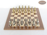 picture of French Heritage Chessmen with Spanish Lacquered Chess Board [Wood] (2 of 5)