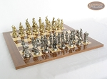 picture of French Heritage Chessmen with Spanish Lacquered Chess Board [Wood] (3 of 5)