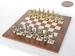 picture of French Heritage Chessmen with Italian Lacquered Chess Board [Wood] (2 of 7)