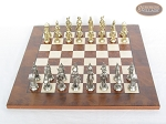 picture of French Heritage Chessmen with Italian Lacquered Chess Board [Wood] (3 of 7)