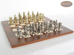 picture of French Heritage Chessmen with Italian Lacquered Chess Board [Wood] (5 of 7)