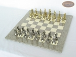 picture of The Aristocratic Chessmen with Spanish Lacquered Chess Board [Grey] (2 of 7)