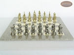 picture of The Aristocratic Chessmen with Spanish Lacquered Chess Board [Grey] (4 of 7)