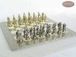 picture of The Aristocratic Chessmen with Spanish Lacquered Chess Board [Grey] (5 of 7)