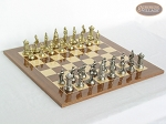 The Aristocratic Chessmen with Spanish Lacquered Chess Board [Wood] - Item: 919