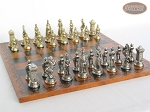 picture of The Aristocratic Chessmen with Patterned Italian Leatherette Board (5 of 7)