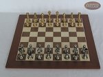 picture of Professional Brass Tournament Chessmen with Spanish Wood Chess Board (3 of 7)