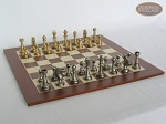 picture of Professional Brass Tournament Chessmen with Spanish Wood Chess Board (5 of 7)