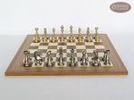 picture of Professional Brass Tournament Chessmen with Spanish Mosaic Chess Board (1 of 4)