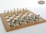 picture of Professional Brass Tournament Chessmen with Spanish Mosaic Chess Board (2 of 4)
