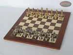 picture of Professional Brass Tournament Chessmen with Spanish Traditional Chess Board [Small] (2 of 7)