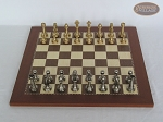 picture of Professional Brass Tournament Chessmen with Spanish Traditional Chess Board [Small] (3 of 7)