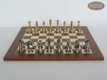 picture of Professional Brass Tournament Chessmen with Spanish Traditional Chess Board [Small] (4 of 7)