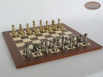 picture of Professional Brass Tournament Chessmen with Spanish Traditional Chess Board [Small] (5 of 7)