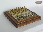 Professional Brass Tournament Chessmen with Italian Brass Board with Storage - Item: 928