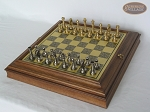 picture of Professional Brass Tournament Chessmen with Italian Brass Board with Storage (2 of 8)
