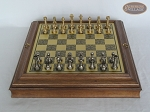picture of Professional Brass Tournament Chessmen with Italian Brass Board with Storage (3 of 8)