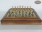 picture of Professional Brass Tournament Chessmen with Italian Brass Board with Storage (4 of 8)