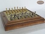 picture of Professional Brass Tournament Chessmen with Italian Brass Board with Storage (5 of 8)