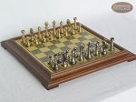 Professional Brass Tournament Chessmen with Italian Brass Chess Board [Raised] - Item: 930