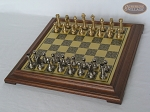 picture of Professional Brass Tournament Chessmen with Italian Brass Chess Board [Raised] (2 of 7)