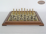 picture of Professional Brass Tournament Chessmen with Italian Brass Chess Board [Raised] (4 of 7)