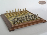 picture of Professional Brass Tournament Chessmen with Italian Brass Chess Board [Raised] (5 of 7)