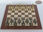 picture of Brass Roman Chessmen with Spanish Wood Chess Board (3 of 8)