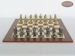 picture of Brass Roman Chessmen with Spanish Wood Chess Board (4 of 8)