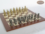 picture of Brass Roman Chessmen with Spanish Wood Chess Board (5 of 8)
