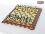 picture of Brass Roman Chessmen with Italian Brass Chess Board [Raised] (2 of 8)