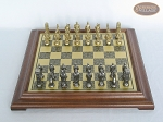 picture of Brass Roman Chessmen with Italian Brass Chess Board [Raised] (3 of 8)