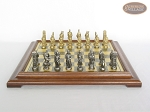 picture of Brass Roman Chessmen with Italian Brass Chess Board [Raised] (4 of 8)