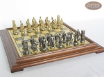 picture of Brass Roman Chessmen with Italian Brass Chess Board [Raised] (5 of 8)