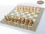picture of The Grand Chessmen II with Large Spanish Lacquered Chess Board [Grey] (2 of 7)