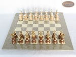 picture of The Grand Chessmen II with Large Spanish Lacquered Chess Board [Grey] (3 of 7)