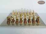 picture of The Grand Chessmen II with Large Spanish Lacquered Chess Board [Grey] (4 of 7)