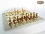 picture of The Grand Chessmen II with Large Spanish Lacquered Chess Board [Grey] (5 of 7)