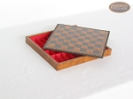 picture of Patterned Italian Leatherette Chess Board with Storage [Small] (2 of 2)