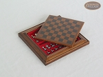 picture of Compact Magnetic Travel Chess Set - Brown (1 of 2)
