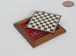 Compact Magnetic Travel Chess Set - White - Item: 988