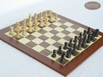 Mini Classic Staunton Rosewood and Maple Chessmen with Spanish Wood Chess Board - Item: 657