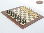 picture of Mini Classic Staunton Rosewood and Maple Chessmen with Spanish Wood Chess Board (2 of 5)