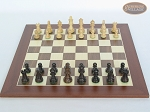 picture of Mini Classic Staunton Rosewood and Maple Chessmen with Spanish Wood Chess Board (3 of 5)
