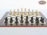 picture of Mini Classic Staunton Rosewood and Maple Chessmen with Spanish Wood Chess Board (4 of 5)