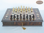 picture of Mini Classic Staunton Rosewood and Maple Chessmen with Large Italian Chess Board with Storage (3 of 6)