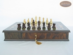 picture of Mini Classic Staunton Rosewood and Maple Chessmen with Large Italian Chess Board with Storage (4 of 6)