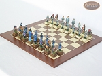picture of American Civil War Chessmen with Spanish Wood Chess Board (2 of 6)